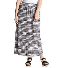 Ruff Hewn Plus Size Tie Dye Burnout Maxi Skirt