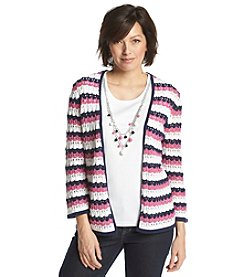 Alfred Dunner® Bon Voyage Layered Look Stripe Sweater