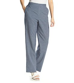 Alfred Dunner® Bon Voyage Checkered Print Pull On Average Pants