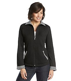 Breckenridge® Radiant Energy Active Knit Jacket With Stripe Trim