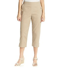 Breckenridge® Spring Blossom Button Pocket And Hem Capri