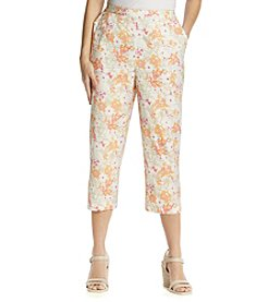 Breckenridge® Spring Blossom Printed Slash Pocket Capri