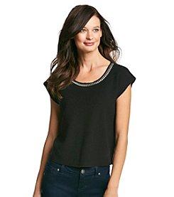 August Silk® Jewel Neck Sweater Shell