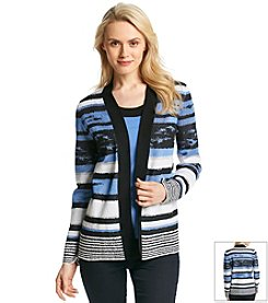 Jones New York Collection® Open Front Printed Cardigan