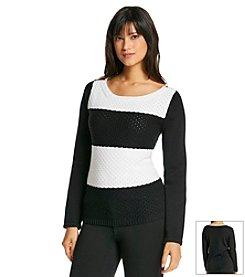 Jones New York Signature® Boatneck Stripe Pullover