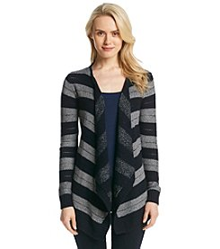 AGB® Stripe Open Cardigan