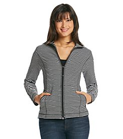 Jones New York Sport® Stripe Zip Up Jacket