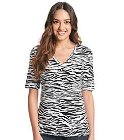 Jones New York Sport® Zebra Print Elbow Knit