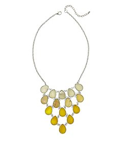 Studio Works® Yellow Ombre Shell Teardrop Frontal Necklace