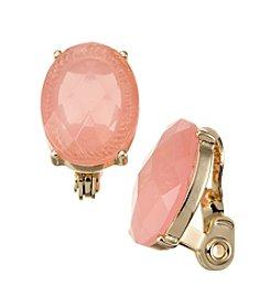 Napier® Button Clip Earrings