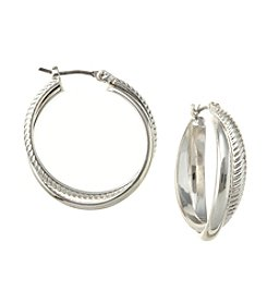Napier® Click-It Hoop Earrings