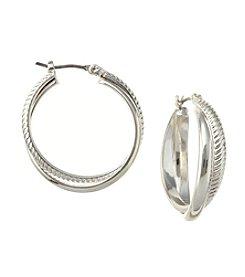 Napier® Click-It Hoop Earrings
