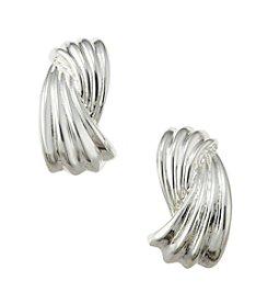 Napier® Small Button Clip Earrings