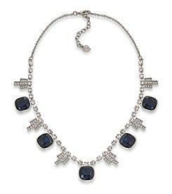 Carolee® Dark Star Geometric Drop Necklace