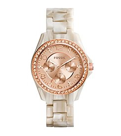 Fossil® Women's Riley Shimmer Bracelet Watch
