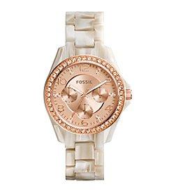 Fossil® Women's Riley Shimmer Bracelet Watch