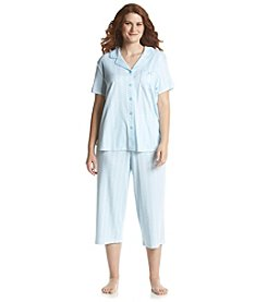 KN Karen Neuburger Plus Size Stripe Pajama Set