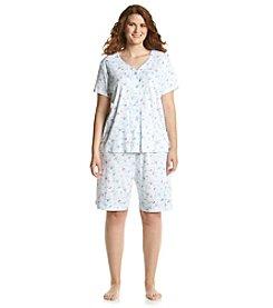 KN Karen Neuburger Plus Size Pajama Cardigan Pajama Set