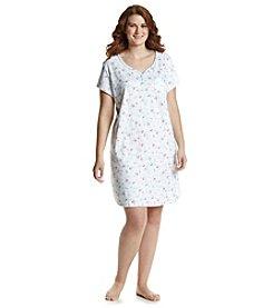 KN Karen Neuburger Plus Size Henley Sleepshirt