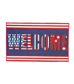Nourison Welcome Flag Accent Rug
