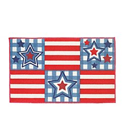 Nourison Blocked Stars & Stripes Accent Rug