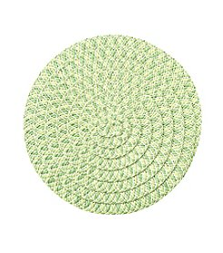 LivingQuarters Paper Braid Green Round Placemat