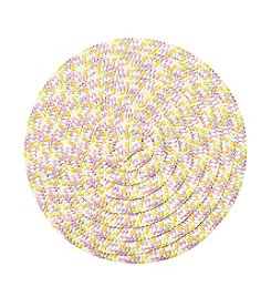 LivingQuarters Paper Braid Easter Round Placemat