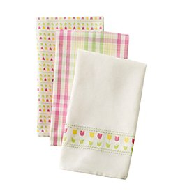 LivingQuarters Tulip 3-pk. Kitchen Towels