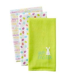 LivingQuarters Easter 3-pk. Kitchen Towels