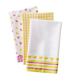 LivingQuarters Chic 3-pk. Kitchen Towels