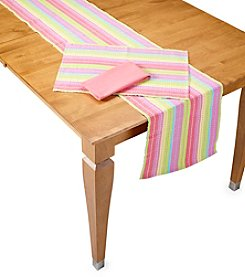 LivingQuarters Spring Stripe Table Linens