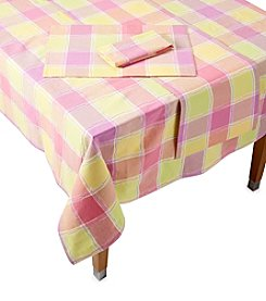 LivingQuarters Dobby Square Table Linens
