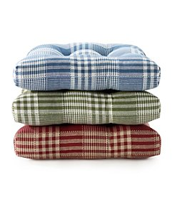 LivingQuarters Cottage Plaid Chair Pad