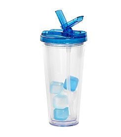 Rove® 20-oz. Blue Flip Top Tumbler with Ice Cubes