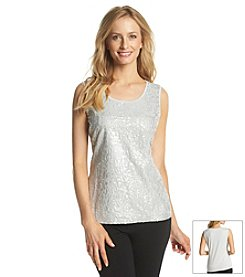 Laura Ashley® Sequin Foil Tank