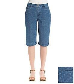 Bandolino® Ivette Diamond Dot Bermuda Shorts