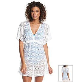 Jantzen® Crochet V-Front Tunic Cover Up