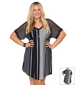 Becca® Plus Size Get Some Air Short Sleeve Tunic
