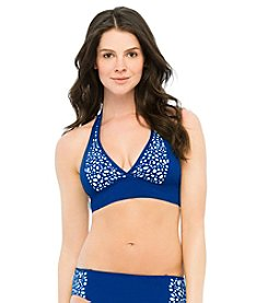 Captiva® Laser Cut Insertion Captive Island Halter Top