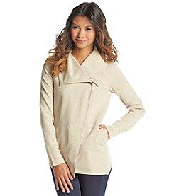 Kensie® Ponte Asymmetrical Jacket