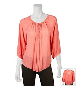 A. Byer Pleated Peasant Top