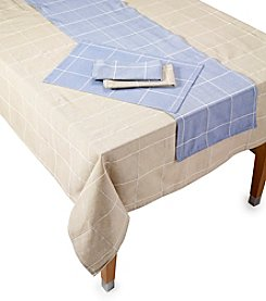 LivingQuarters Highland Check Table Linens