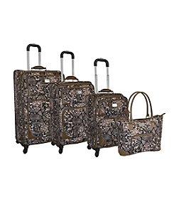 Adrienne Vittadini® Python 4-pc. Luggage Set