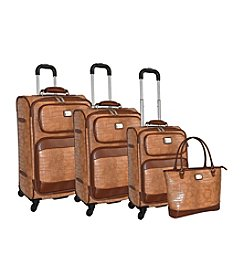 Adrienne Vittadini® Croco 4-pc. Luggage Set