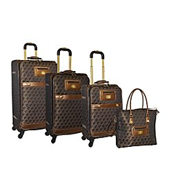Adrienne Vittadini® Signature Jacquard 4-pc. Luggage Set