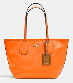 COACH C.O.A.C.H. TAXI ZIP TOP TOTE IN CROSSGRAIN LEATHER