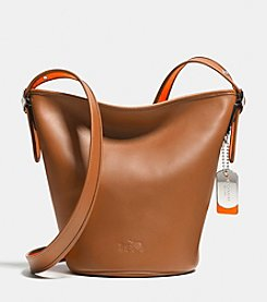 COACH C.O.A.C.H. MINI DUFFLE IN CALF LEATHER