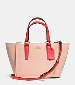 COACH MINI CROSBY CARRYALL IN TWO TONE COLORBLOCK LEATHER
