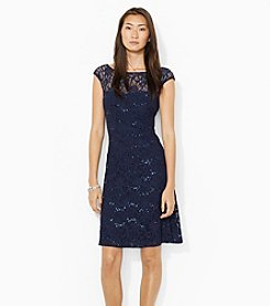 Lauren Ralph Lauren® Fit And Flare Lace Sequin Dress