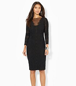 Lauren Ralph Lauren® Lace Plunge Dress